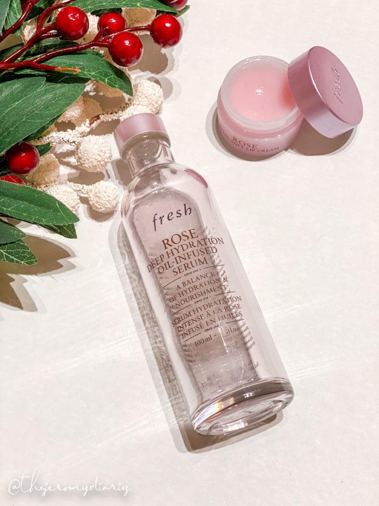 fresh beauty rose deep hydration oil-infused serum