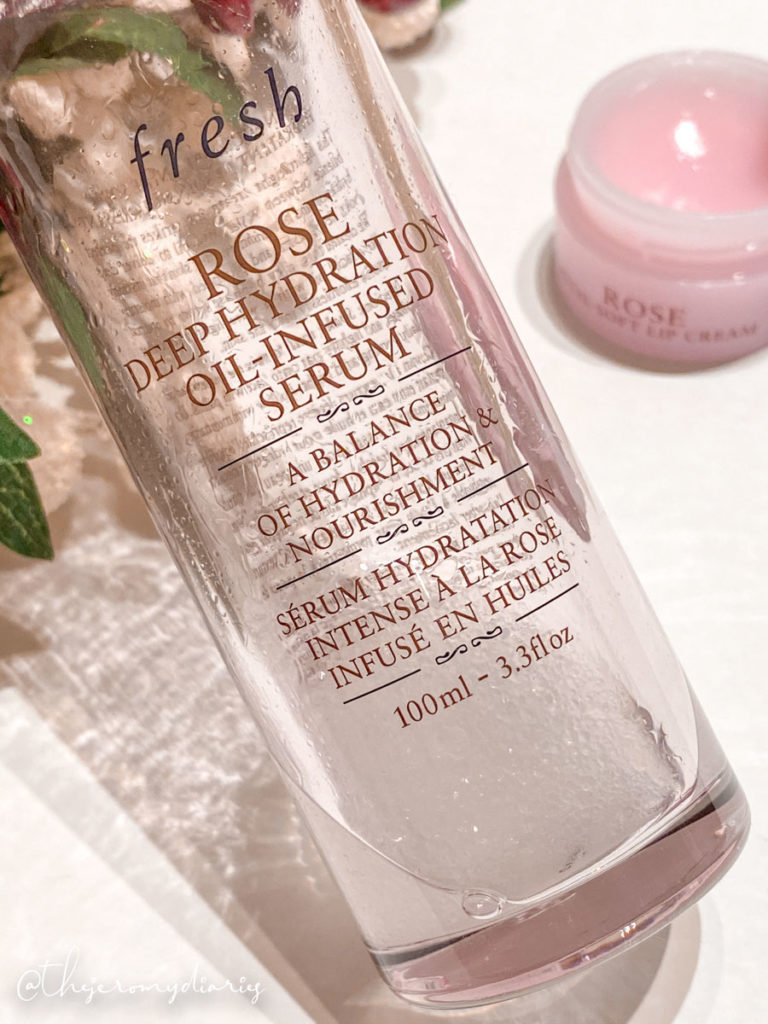 fresh beauty rose petal lip balm